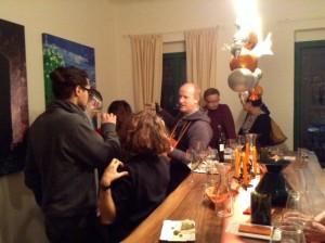 wunderbare Weine im Orange Wine Verkostungsraum